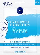 Nivea Hyaluron + Hydration 10 Minutes Sheet Mask - душ гел