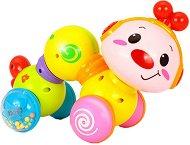 Червейче - Детска музикална играчка за бутане -