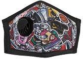 Предпазна маска с клапан за многократна употреба FFP2 - Графити - Със сребърни йони