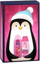 Подаръчен комплект за момичета - Fa Kids & Schauma - Шампоан и душ гел за деца -