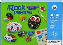 Рисуване върху камъни - Детски творчески комплект -
