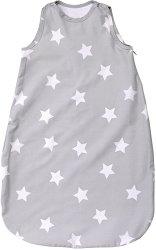 Зимно бебешко спално чувалче - Stars Grey - 100% ранфорс с дължина 80 или 100 cm -