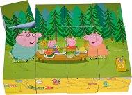 Дървени кубчета - Пепа Пиг - Дървена образователна играчка -