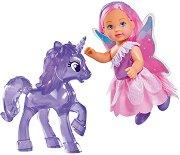 """Фея Еви Лав с еднорог - Детски комплект за игра  от серията """"Steffi Love"""" -"""