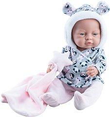 Кукла бебе - 45 cm - В комплект с кърпа за гушкане -