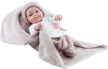 "Кукла бебе момиченце с одеялце - От серията ""Paola Reina: Mini Pikolines"" -"