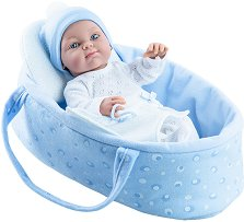 "Kукла бебе момченце с кош - От серията ""Paola Reina: Mini Pikolines"" -"