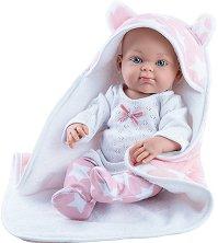 "Кукла бебе момиченце с одеалце с качулка - От серията ""Paola Reina: Mini Pikolines"" -"