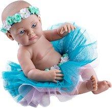 """Кукла бебе момиченце с пола и венец - От серията """"Paola Reina: Mini Pikolines"""" -"""