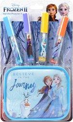 Детски комплект с гланцове за устни и несесер - Disney Frozen 2 - парфюм