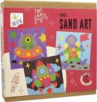 Оцветявай с цветен пясък - Космос - Творчески комплект за рисуване -