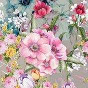 Салфетки за декупаж - Живописни цветя - Пакет от 20 броя