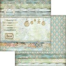 Хартия за скрапбукинг - Коледна декорация - Размери 30.5 x 30.5 cm