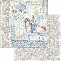 Хартия за скрапбукинг - Зимни мотиви - Размери 30.5 x 30.5 cm
