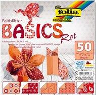 Хартия за оригами - Rot - Комплект от 50 листа с размери 20 х 20 cm