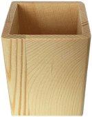 Квадратен дървен моливник