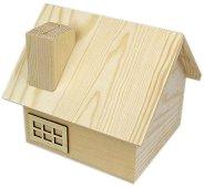 Дървена кутия - Къща - Предмет за декориране с размери 14 / 13 / 12.5 cm