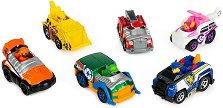 """Подаръчен комплект - Метални колички - Детски комплект за игра със 6 колички от серията """"Пес патрул"""" - играчка"""