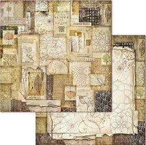 Хартия за скрапбукинг - Kниги и листа - Размери 30.5 x 30.5 cm