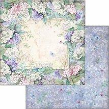 Хартия за скрапбукинг - Рамка от цветя - Размери 30.5 x 30.5 cm