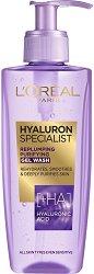 "L'Oreal Hyaluron Specialist Replumping Purifying Gel Wash - Почистващ гел за лице с хиалуронова киселина от серията ""Hyaluron Specialist"" - маска"