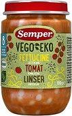 Semper - Био пюре от фетучини с домат и леща - пюре