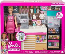 """Кафенето на Барби - Детски комплект за игра от серията """"Barbie"""" -"""