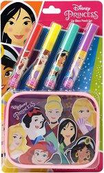 Детски комплект с гланцове за устни и несесер - Disney Princess - продукт