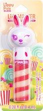Lip Smacker Lippy Pals Gloss - Bunny - Гланц за устни с аромат на карамелизирани пуканки -