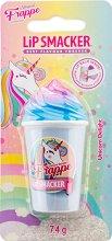 Lip Smacker Frappe Unicorn Delight - Балсам за устни с аромат на бонбони - серум