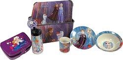 Кутия за съхранение - Замръзналото кралство - В комплект с шише, съдове и прибори за хранене - продукт