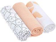 Бебешки муселинови пелени - Little Spookies: Peach - Комплект от 3 броя с размери 85 x 85 cm - продукт