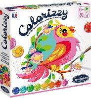 Оцветявай по номера - Птици - Творчески комплект с акрилни бои - творчески комплект