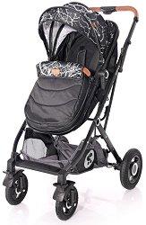 Бебешка количка 2 в 1 - Sena Set - С 4 колела -