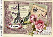 Декупажна хартия - Парижки пейзаж