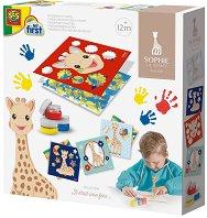 Рисувай с пръсти - Жирафчето Софи -