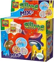 Слайм за смесване - Комплект с топчета и плодови конфети -