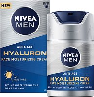 Nivea Men Anti-Age Hyaluron Face Moisturising Cream - SPF 15 - крем