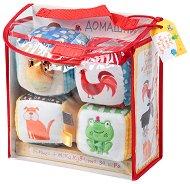 Меки кубчета - Домашни животни - В комплект с детска книжка - играчка