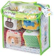 Меки кубчета - Диви живтони - В комплект с детска книжка - играчка