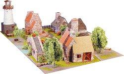 Провинциален град - Сглобяем модел от истински тухлички -