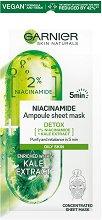 Garnier Detox Niacinamide Ampoule Sheet Mask - шампоан