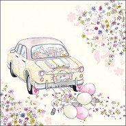 Салфетки за декупаж - Младоженци - Пакет от 20 броя