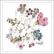 Салфетки за декупаж - Пролетен букет - Пакет от 20 броя