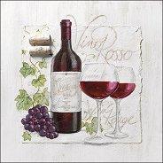 Салфетки за декупаж - Червено вино - Пакет от 20 броя