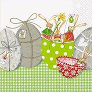 Салфетки за декупаж - Украсени яйца - Пакет от 20 броя