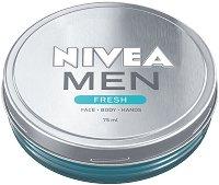 Nivea Men Fresh - Освежаващ гел крем за мъже - маска