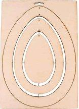 Дървена фирурка - Яйца - Предмет за декориране с размери 21 x 29.7 cm