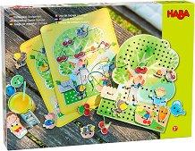 Овощна градина - Детски комплект за нанизване -