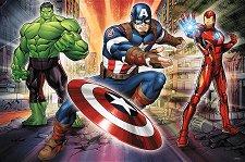 """Капитан Америка, Хълк и Железния човек - От колекцията """"Отмъстителите"""" - пъзел"""